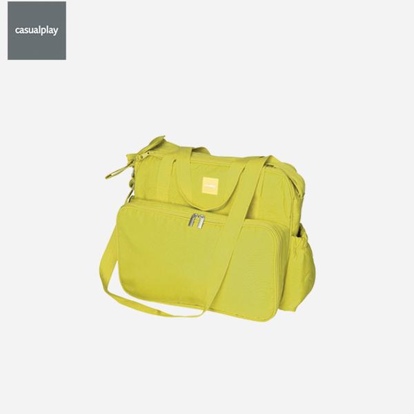[캐주얼플레이]맥시 기저귀 가방_라임 (다용도 기저귀 가방 + 젖병 보관용 주머니 + 방수패드 포함)