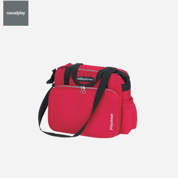[캐주얼플레이]맥시 기저귀 가방_레드 (다용도 기저귀 가방 + 젖병 보관용 주머니 + 방수패드 포함)